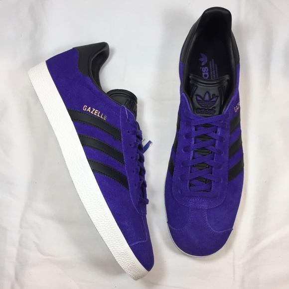 ADIDAS Gazelle Purple Black White Sneakers NEW